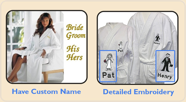 Bride and Groom Bath robes £12 d215fc64d