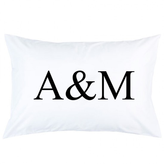 Personalized custom letter with initial printed pillowcase covers
