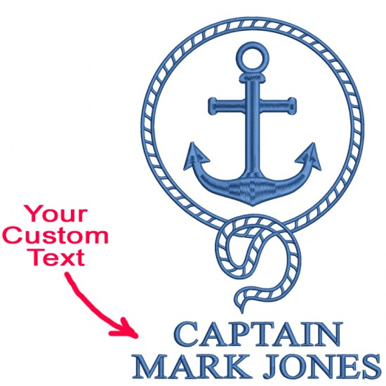 A Anchor Sailor Aye Aye Captain Custom Text Embroidery on Bathrobe