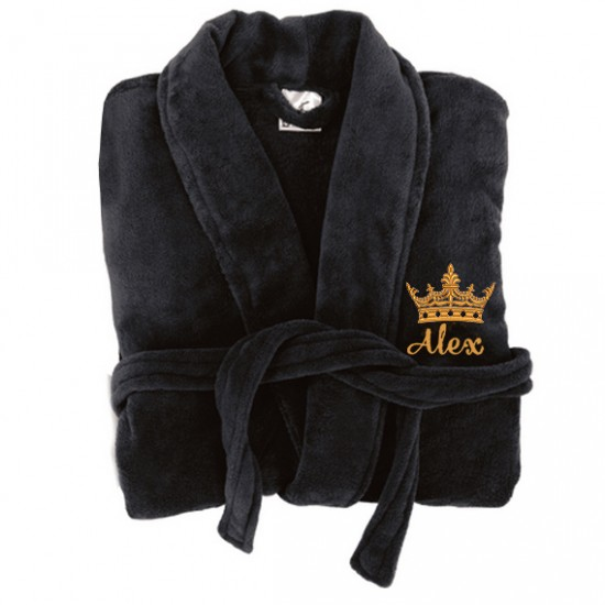 A King Custom Name Embroidery on TERRY bathrobe