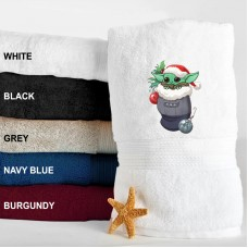 A Cute Baby Christmas Embroidered Terry Towel 500 GSM