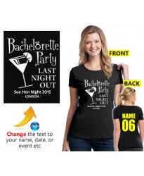 Hen Night T Shirt Bachelorette Party with custom text