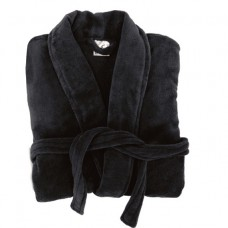 Cotton Terry Black Robe