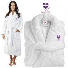 Deluxe Terry cotton with bride bikini design CUSTOM TEXT Embroidery bathrobe