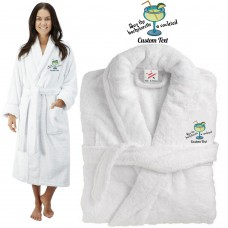 Deluxe Terry cotton with buy bachelorette a cocktail CUSTOM TEXT Embroidery bathrobe