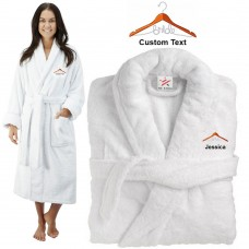Deluxe Terry cotton with bride hanger CUSTOM TEXT Embroidery bathrobe