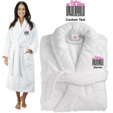 Deluxe Terry cotton with brother of the bride barcode CUSTOM TEXT Embroidery bathrobe