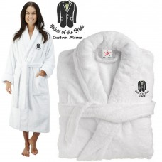 Deluxe Terry cotton with father of the bride suit CUSTOM TEXT Embroidery bathrobe