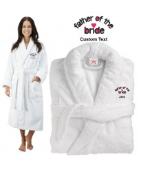 Deluxe Terry cotton with father of the bride CUSTOM TEXT Embroidery bathrobe