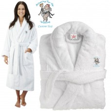 Deluxe Terry cotton with sweating for the wedding CUSTOM TEXT Embroidery bathrobe