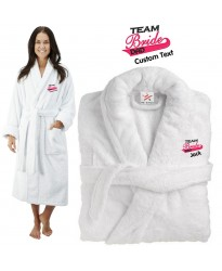 Deluxe Terry cotton with team bride dad CUSTOM TEXT Embroidery bathrobe