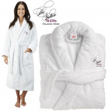 Deluxe Terry cotton with the future mr & mrs CUSTOM TEXT Embroidery bathrobe