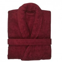 Cotton Terry Burgundy Marron Robe