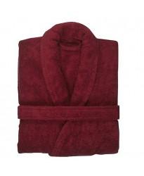 Cotton Terry Burgundy Marron Robe