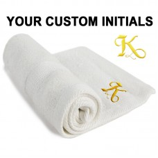 A Personalised FACE Towels Custom Initials Embroidery