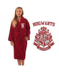 A Alumni Wizard School Logo Embroidery on TERRY bathrobe