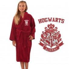 A Alumni Wizard School Logo Embroidery on TERRY bathrobe