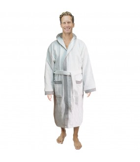 Protector of the Galaxy Pipping Hooded Custom NAME TEXT FRONT Embroidery TERRY Towel Bathrobe