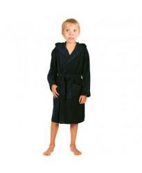 Children Black Hooded Robe