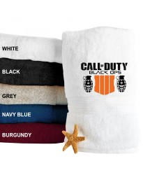A Duty Calls Embroidered Terry Towel 500 GSM