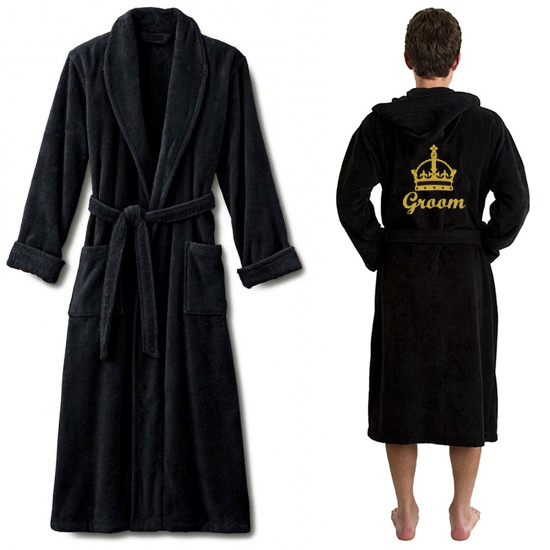 A TERRY CROWN and custom name Embroidery bathrobe