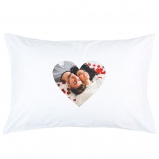 Personalised IMAGE in HEART custom printed pillowcase covers