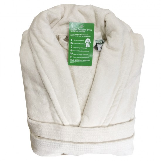 A Classic Luxury Velour Cotton Bathrobe
