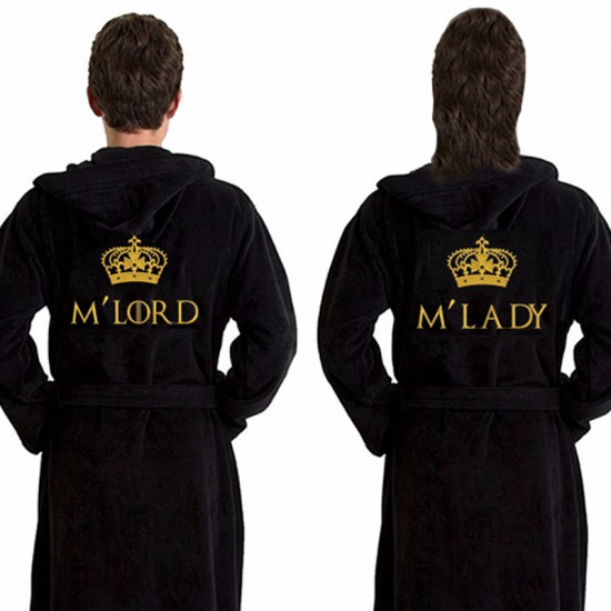 A Elite Class Custom TEXT Embroidery on TERRY bathrobe