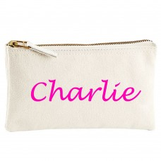 Personalised CUSTOM NAME on cotton purse bag
