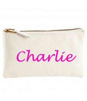 Personalised CUSTOM NAME on cotton purse bag