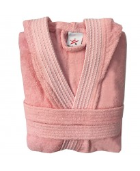 Rainbow PEACH HOODED Bathrobes in 100% cotton Terry towel fabric
