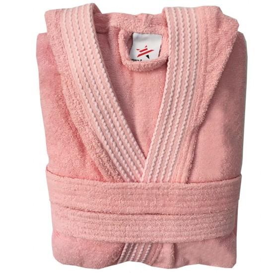 Rainbow PEACH HOODED Bathrobes in 100% cotton Terry towel fabric