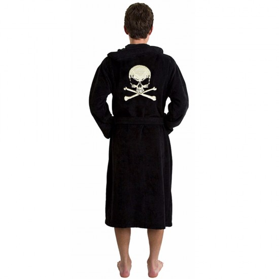 Skull and Bones bathrobe with back skull embroidery