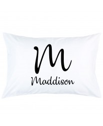 Personalized Big letter with Custom Name printed pillowcase covers