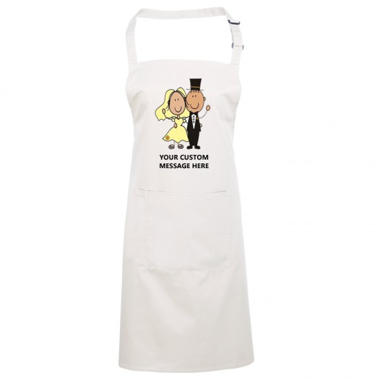 Cartoon wedding custom aprons