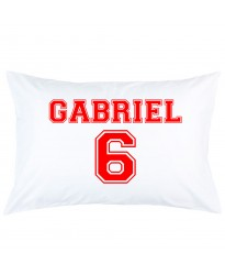 Personalized custom name with number printed pillowcase covers