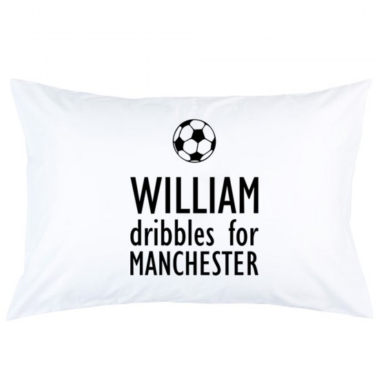 Personalized Football with custom text and name printed pillowcase covers