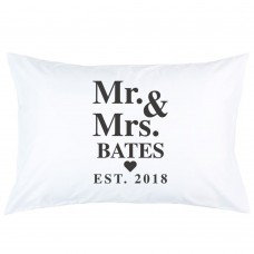 Personalized Heart Custom Name with Date printed pillowcase covers