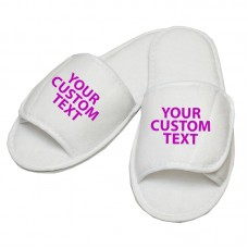 Personalised Basic text embroidery on slippers