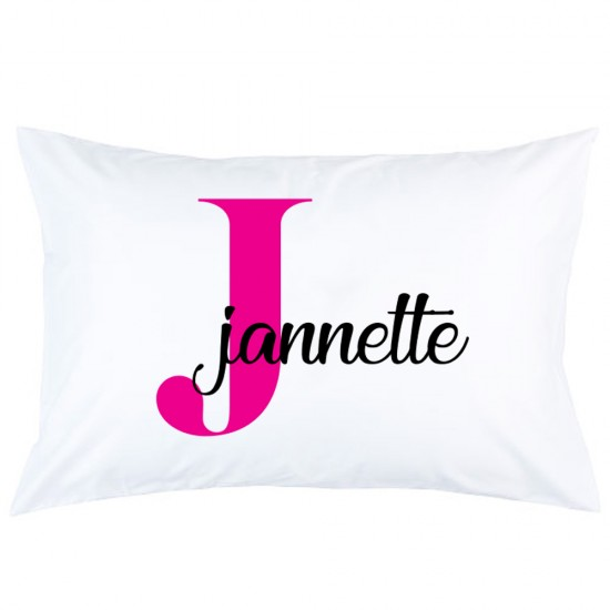 Personalized Custom Name With Initial printed pillowcase covers