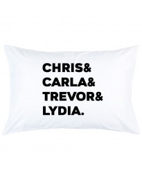 Personalized Family Members Name printed pillowcase covers