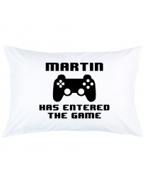 Personalized Game control custom name has entered the game printed pillowcase covers