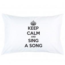 Personalized keep calm and sing a song printed pillowcase covers