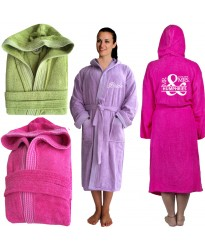 Cool Rainbow bathrobe with front and back Mr & Mrs date TEXT Embroidery