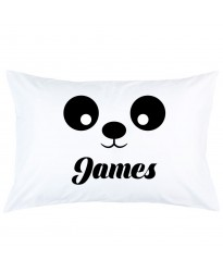 Personalized Panda Eyes With Custom Name printed pillowcase covers