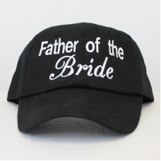 Personalised Custom text 'Father of the Bride' embroidery on Baseball caps