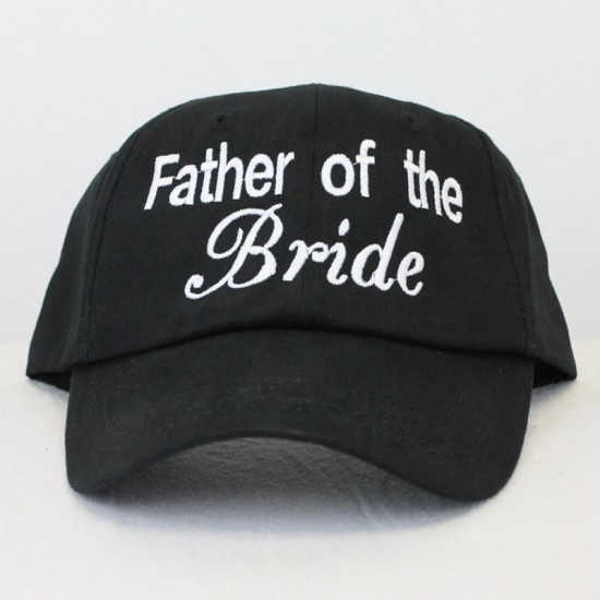 Personalised Custom text  Father of the Bride  embroidery on Baseball caps  ... 607c857348b4
