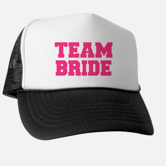 Personalised Custom text 'Team Bride' printed on Baseball caps