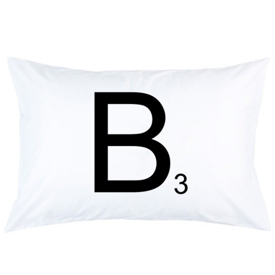 Personalized Scrabble Letter Custom Initial printed pillowcase covers