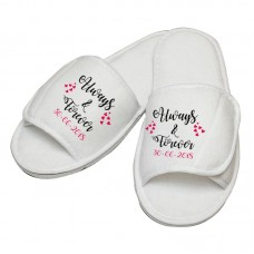 Personalised embroidery ALWAYS & FOREVER slipper